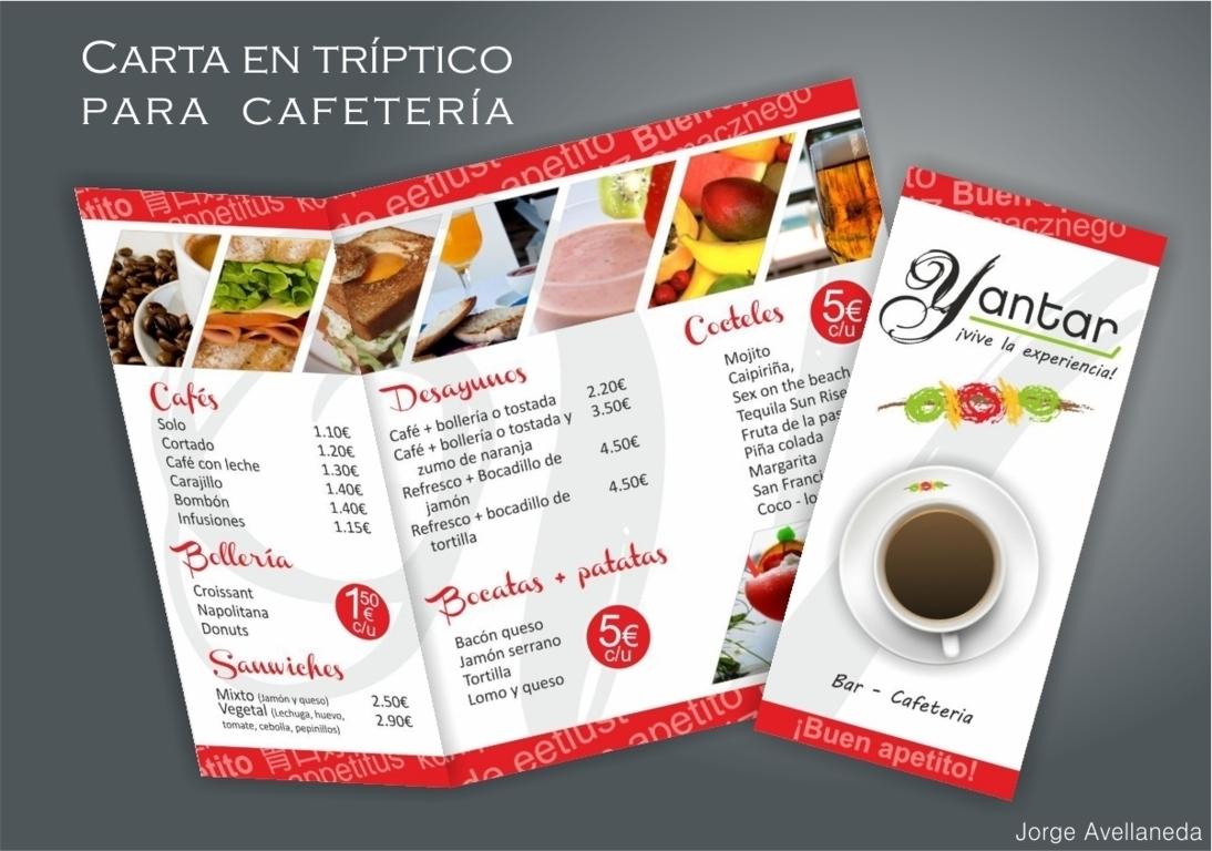 Cartas y men s para restaurantes jorge avellaneda for Disenos de menus para cafeterias